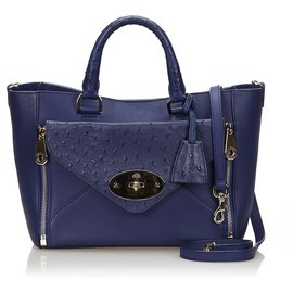 Mulberry-Mulberry Blue Leather Willow-Blue,Navy blue