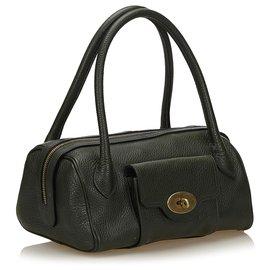 Mulberry-Mulberry Green Leather Handbag-Green,Dark green