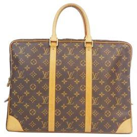 Louis Vuitton-Louis Vuitton Brown Monogram Porte-Documents Voyage-Brown