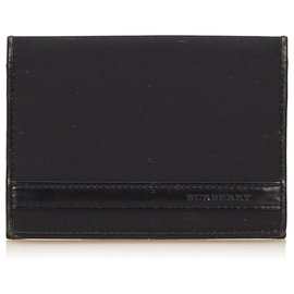 Burberry-Burberry Black Nylon Card Holder-Black