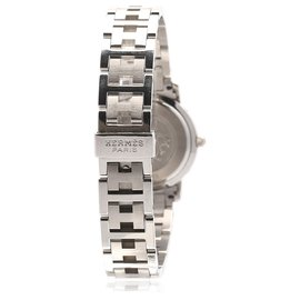 Hermès-Hermes Silver Clipper Stainless Steel Quartz CL4.210-Silvery