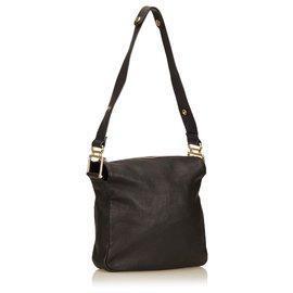 Chloé-Chloe black Leather Shoulder Bag-Black