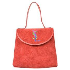 Yves Saint Laurent-Yves Saint Laurent Handbag-Red