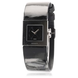 Chanel-Chanel Black Patent Leather Watch-Black
