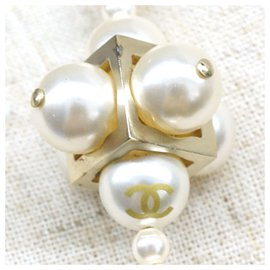 Chanel-Chanel White Faux Pearl Necklace-White