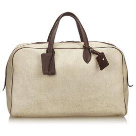 Hermès-Hermes Brown Victoria 50-Brown,Beige,Dark brown