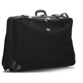 Burberry-Burberry Black Leather Travel Bag-Black