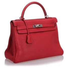 Hermès-Hermes Red Clemence Kelly Retourne 32-Red