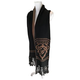 Gucci-Scarves-Brown