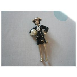 Chanel-CHANEL Coco brooch new condition Collector-Black