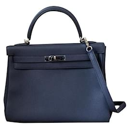 Hermès-hermes kelly 32 returned blue night blue-Navy blue