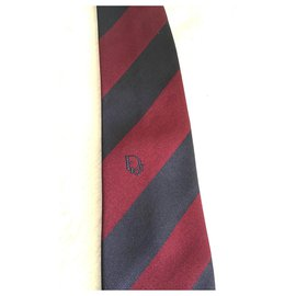 Christian Dior-Ties-Dark red,Navy blue
