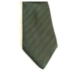 Lanvin-Krawatten-Dunkelgrün