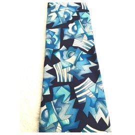 Kenzo-Krawatten-Marineblau,Hellblau