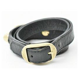 Balenciaga-Balenciaga Leather Bracelet-Black