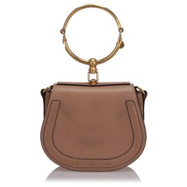 Chloé-Chloe Pink Small Nile Crossbody Bag-Pink,Other