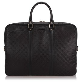 Gucci-Gucci Black Diamante Bright Briefcase-Black
