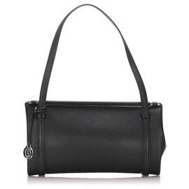 Cartier-Sac porté épaule en cuir noir Cartier-Noir
