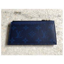 Louis Vuitton-Coin card holder new-Blue