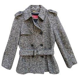 Burberry-burberry winter jacket size 38-Grey