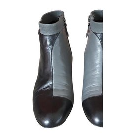 Chanel-Boots-Black,Grey