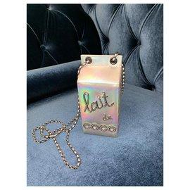 Chanel-Chanel Tasche Lait de Coco-Silber
