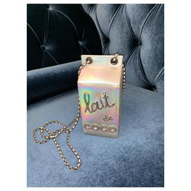 Chanel-Chanel bag Lait de Coco-Silvery
