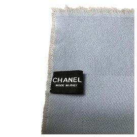 Chanel-Light blue Chanel shawl-Blue