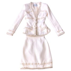 Chanel-Skirt suit-White