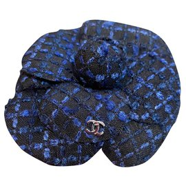 Chanel-Pins & brooches-Black,Blue