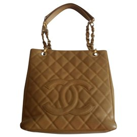 Chanel-Shopping pm-Beige