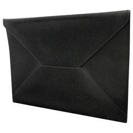 Hermès-Hermès Enveloppe Chevrolet-Black