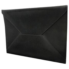 Hermès-Hermès Enveloppe Chevrolet-Noir