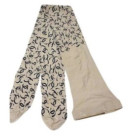 Chanel-CHANEL INTIMES - Monogrammed tights new condition-Beige