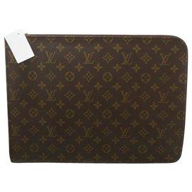 Louis Vuitton-Document Louis Vuitton Poche-Marron