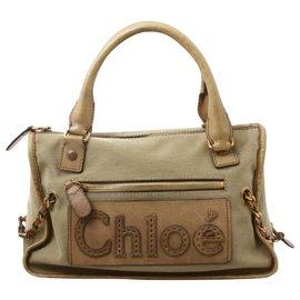 Chloé-Chloé Leather Hand Bag-Beige