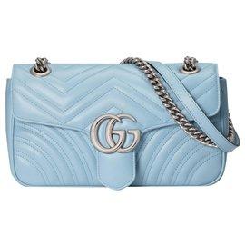 Gucci-Petit sac à bandoulière GG Marmont-Bleu