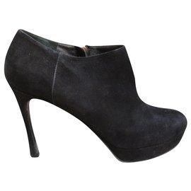 Yves Saint Laurent-low-boots Yves Saint Laurent p 39-Black