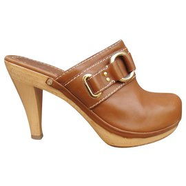 Céline-Céline p heeled clogs 35-Light brown