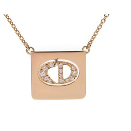 Dior-Collier Diamant Dior-Doré