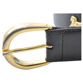 Céline-Céline Horse Carriage Belt-Black
