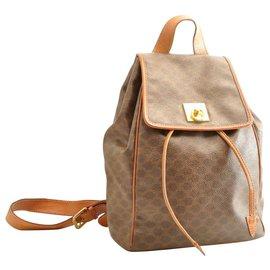 Céline-Céline Macadam Backpack-Brown