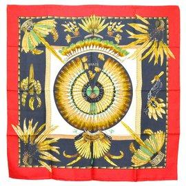 Hermès-Hermès Silk Scarf Carre 90-Red