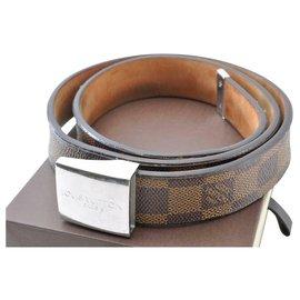 Louis Vuitton-Louis Vuitton Damier Ebene ceinture Belt 77-85cm-Brown