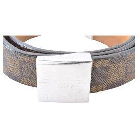 Louis Vuitton-Louis Vuitton Damier Ebene ceinture Cinto 77-85cm-Marrom