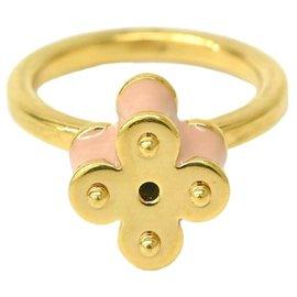 Louis Vuitton-Louis Vuitton Ring Band Monogram Flower-Doré