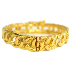 Chanel-Chanel Gold CC Bangle-Golden