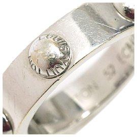 Louis Vuitton-Louis Vuitton Silver 18Bague Clous K-Argenté