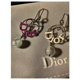 Christian Dior-Magnificent Dior style pendant earrings-Silvery