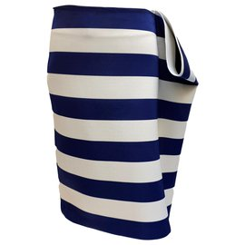 "Jacquemus-""Jacquemus"" deckchair skirt ""Marseille parasols"" navy waist skirt 40 New with tag-Navy blue"